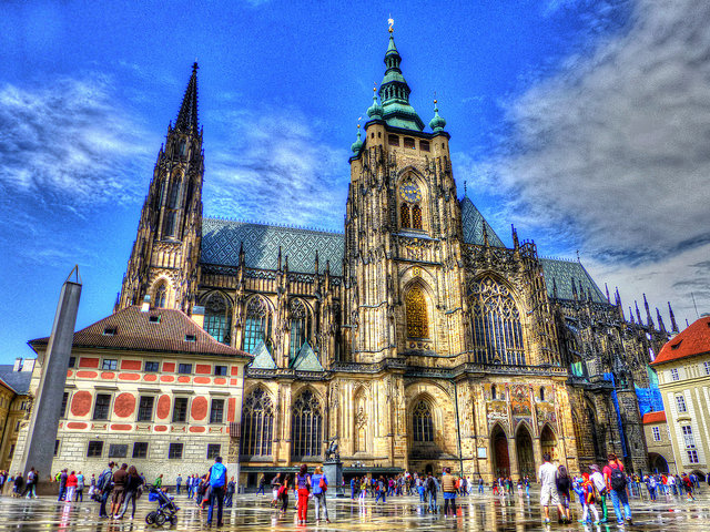British holidaymakers like to visit local attractions whilst on holiday such as Prague Castle
