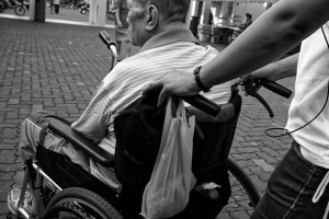 Wheelchair user and carer