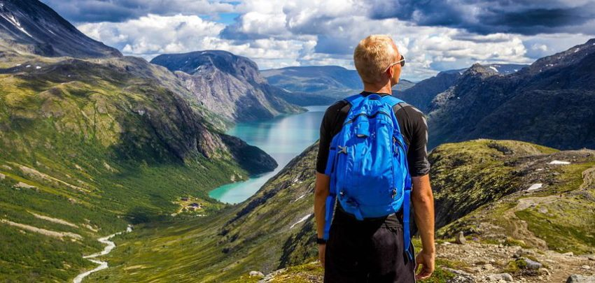A backpacker is almost always a traveller
