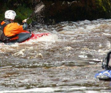 River kayaking in Europe