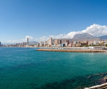 Benidorm sea front and beach