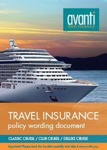 Avanti's Cruise policy words