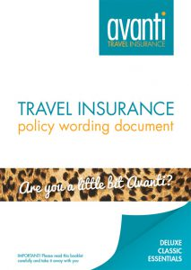 Avanti travel insurance policy wording