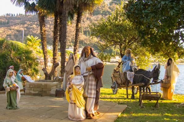 nativity scene in garda on lake garda italy