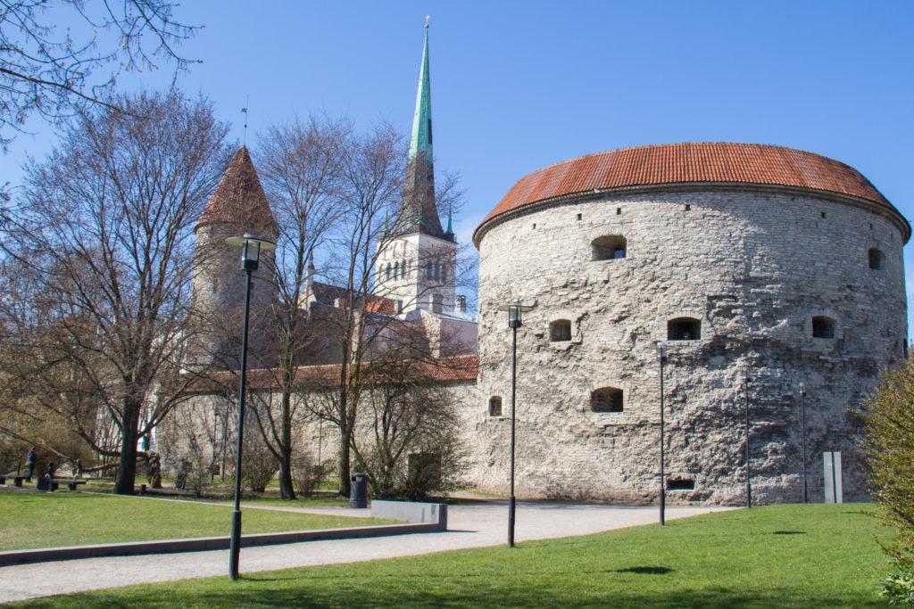 Image of city walls of tallinn in estonia