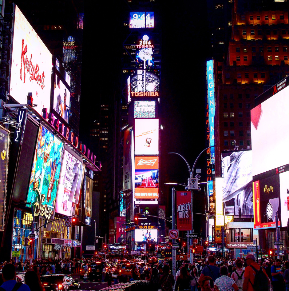 Image of Madison Square at night