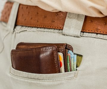 Image of wallet in pocket