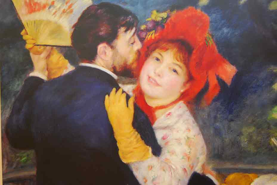 Image of Renoir-painting in Essoyes