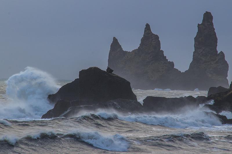 Image of Salt Stacks in Vik, Iceland