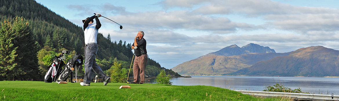 Image of people playing golf