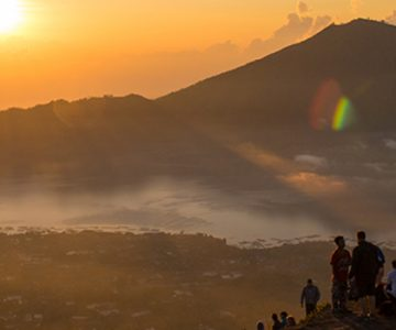 Image of sunrise in Batur, Indonesia