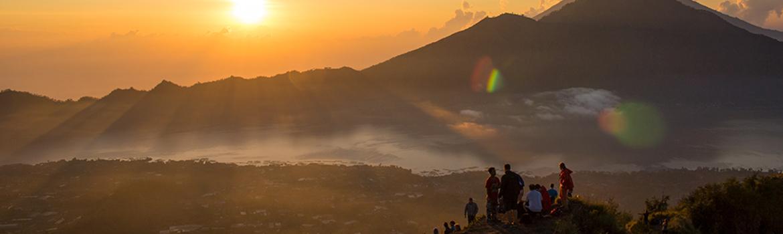 Image of sunrise in Batur, Indonesia
