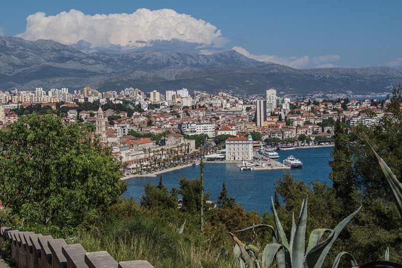 Image of Split from Marjan Hill in Croatia