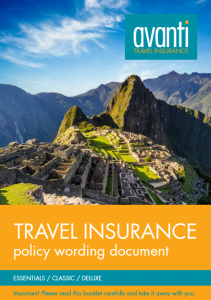 Download Avanti's Travel Insurance Policy Document