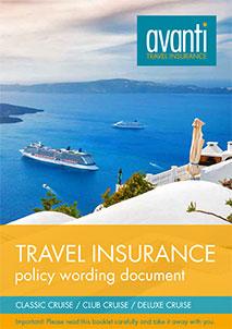 Avanti's Cruise policy words