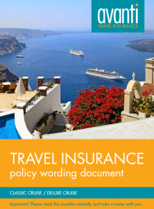 Cruise Travel Insurance Policy