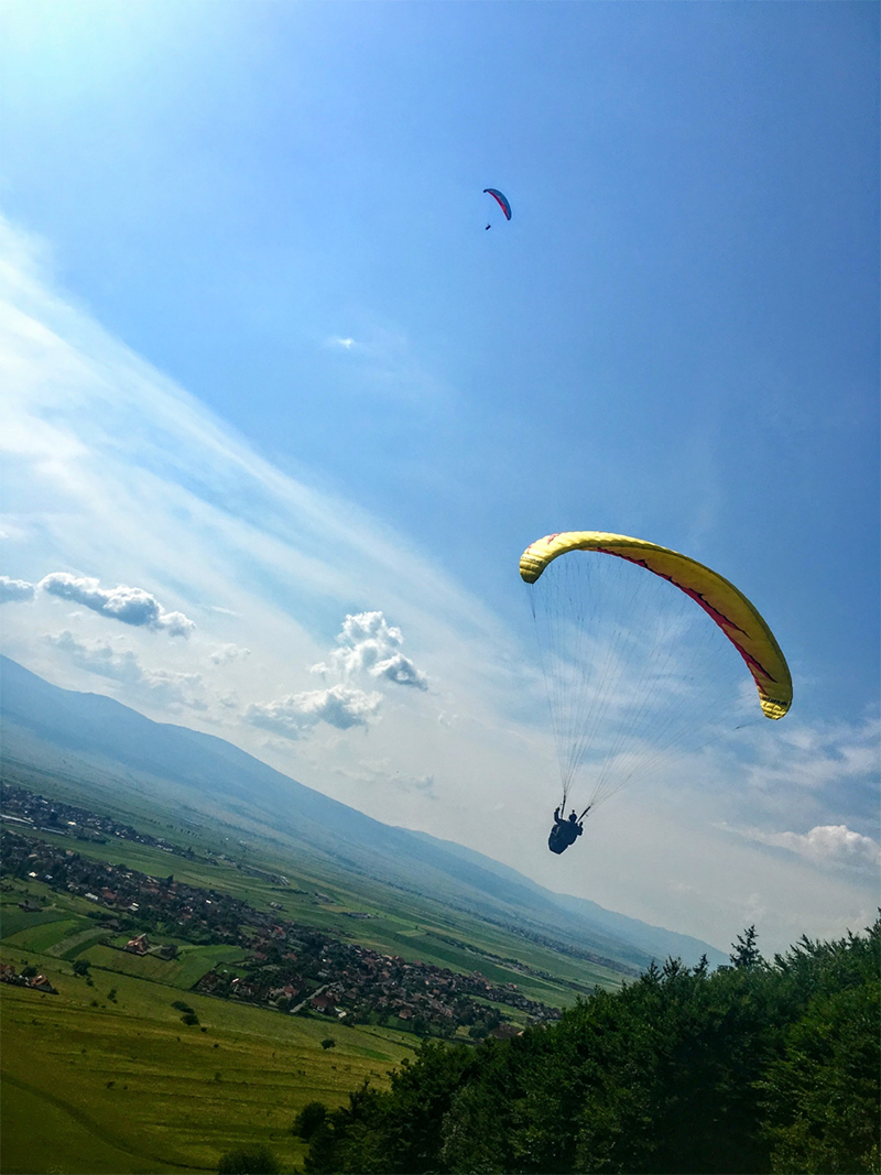 Image of Paragliding in Transylvania