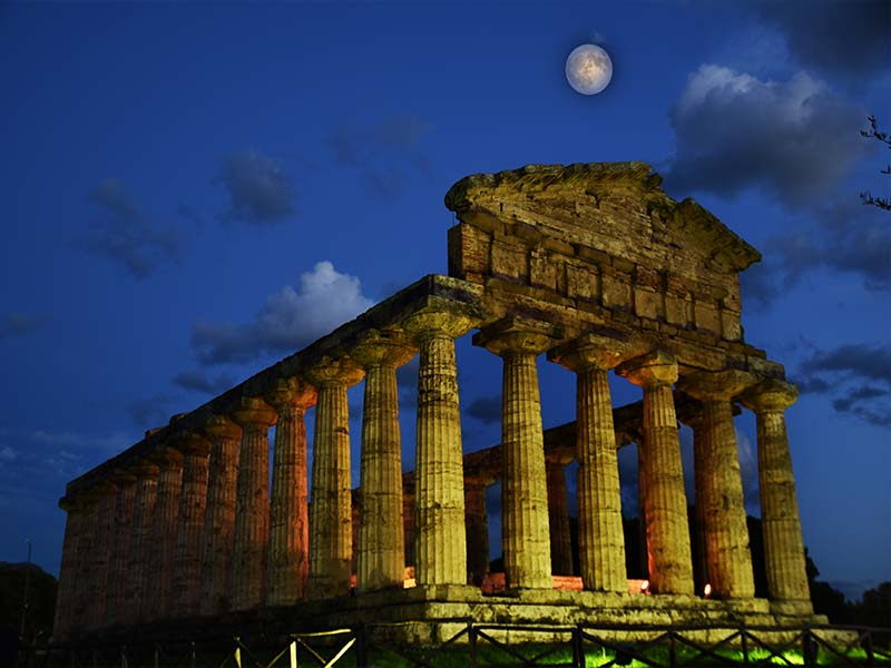 Image of The Temple of Athena - Paestum Ancient Greek temple
