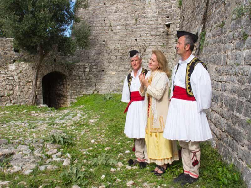Image of Albanian polyphonic musicians