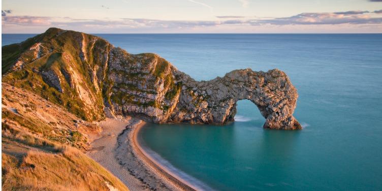 an image of Dorset's Durdle Door, a key landmark on the Jurassic Coast