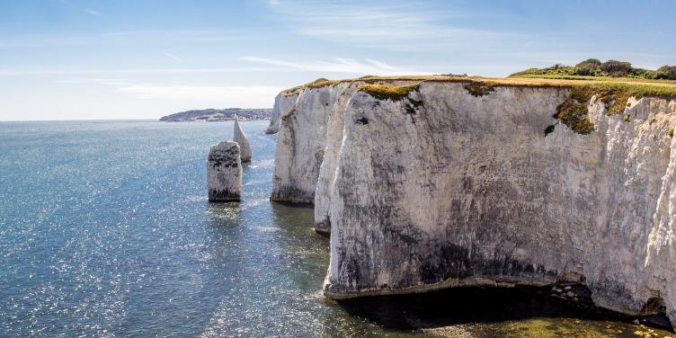 an image of Old Harry Rocks on Dorset's Jurassic Coast