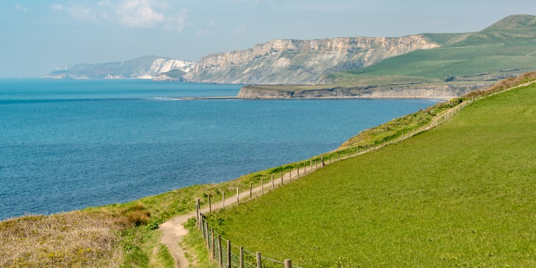 an image of a walking path on the Jurassic Coast