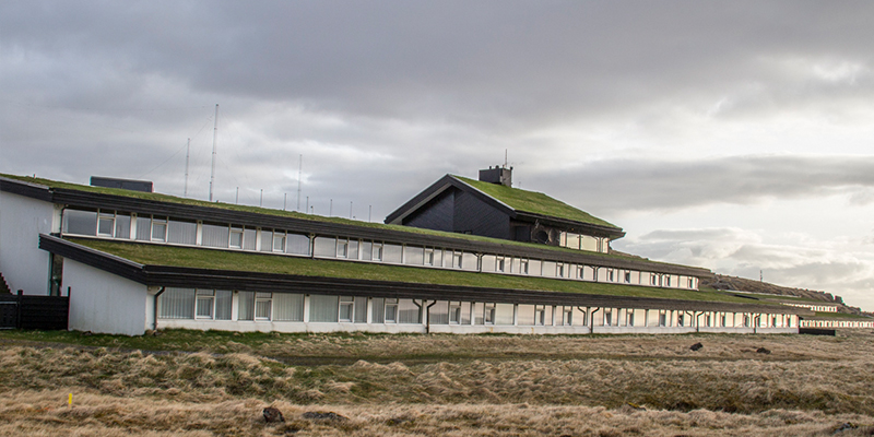 Hotel Foroyar in the Faroe Islands with Turf Roof