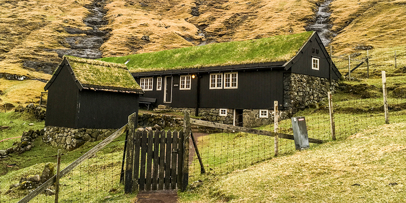 Koks Michelin Star Restaurant with turf roof In Faroe Islands
