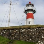 Skansin Fort with Red And White Lighthouse On Faroe Islands