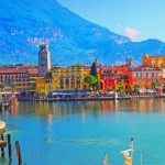 Riva del Garda in Trentino Italy in the sunshine