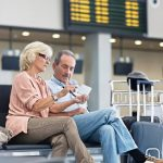older couple at the airport