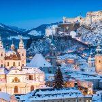historic city of salzburg in winter