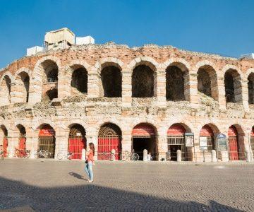 arena di verona in the sunshine