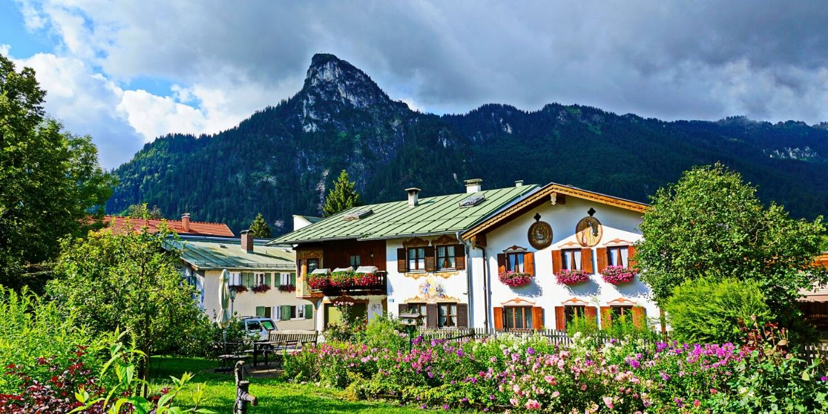 Houses of Oberammergau, Bavaria Germany