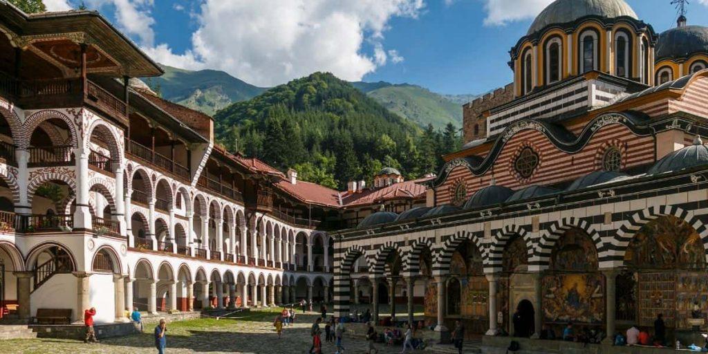 the orthodox rila monastrery bulgaria
