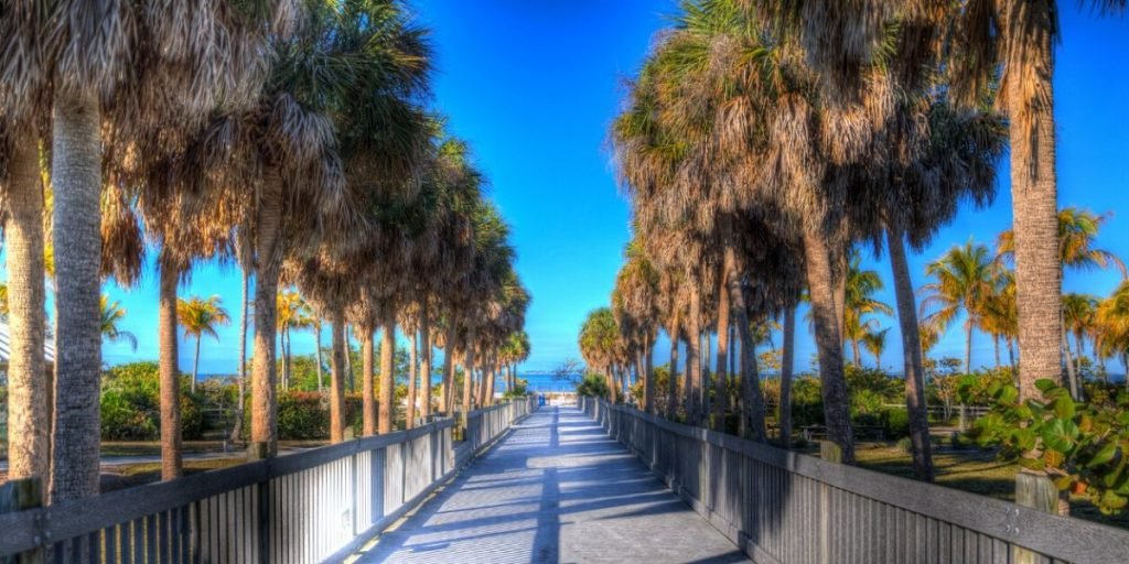 Walkway to Fort Myers beach