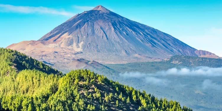 Views of Mount Teide on Tenerife