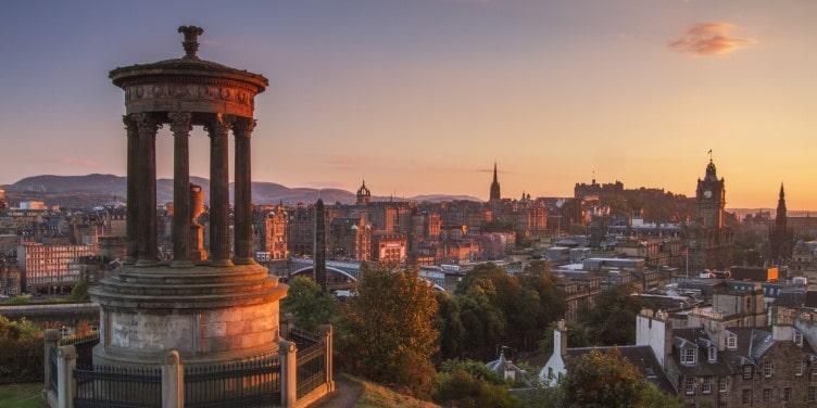 Carlton Hill view over Edinburgh