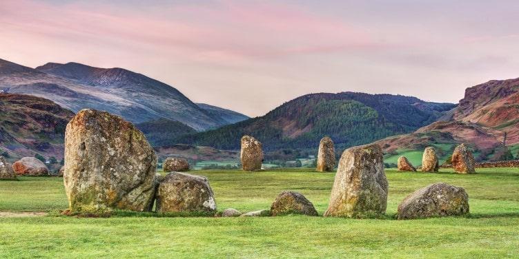 Stone circle at Castlerigg in Cumbria