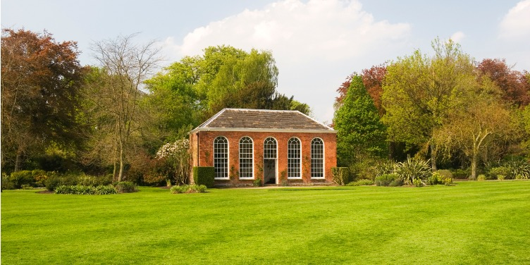 an image of an orangery in the grounds of Dunham Massey, Cheshire