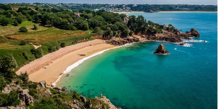 an image of Beauport Beach, St Aubin, Jersey