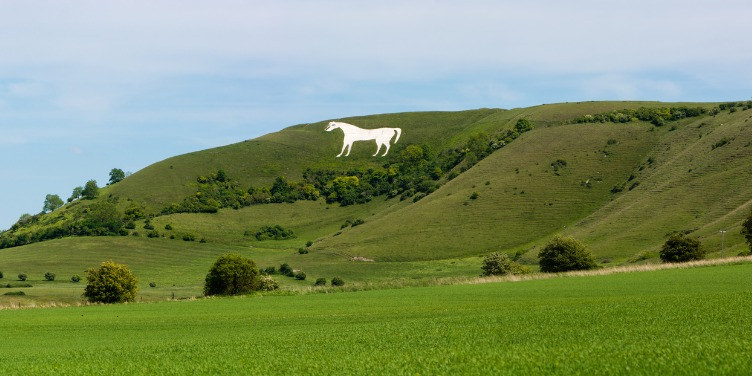 an image of the Westbury White Horse, along the Great West Way