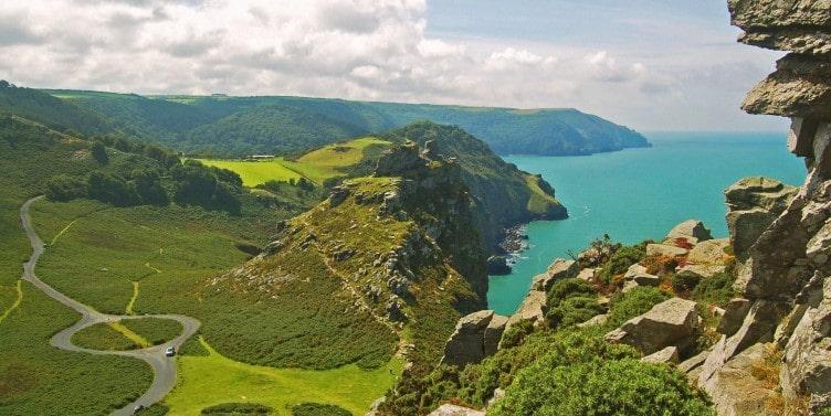 Valley of the Rocks in North Devon