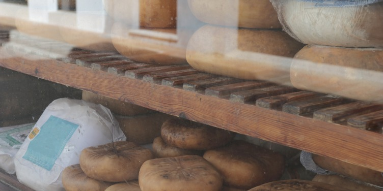an image of a selection of artisanal cheeses in Menorca