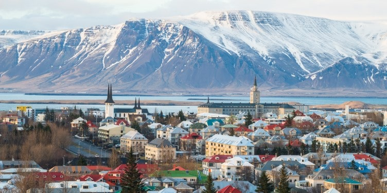 View of Reykjavik city in Iceland
