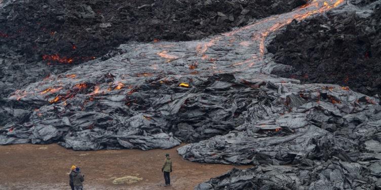 Volcanic eruption at Reykjanes peninsula